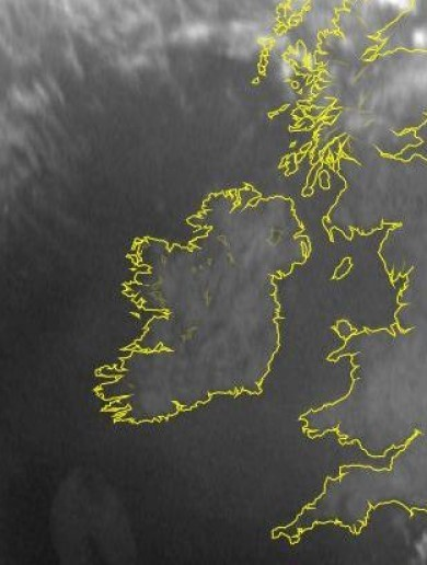 PIC: A cloudless Ireland at 6am today
