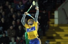 Taking stick: Clare looking big for their age