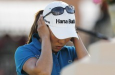 Kim misses one-foot putt for major victory