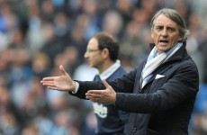 Mancini plays down Man City dressing room divisions