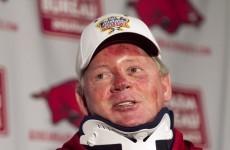 Controversial Petrino sacked by Arkansas