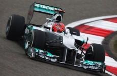 Schumacher tops Shanghai practice