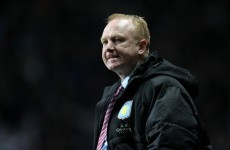 McLeish 'gutted' over Villa form but vows to turn it around
