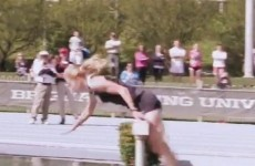 VIDEO: Take a nine-second break to watch this steeplechase runner take a dunk