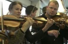 VIDEO: Flash mob offers Copenhagen commuters a musical treat