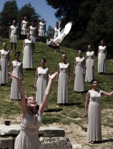 Olympic flame lighting rehearsal goes off 'without a hitch' in Greece