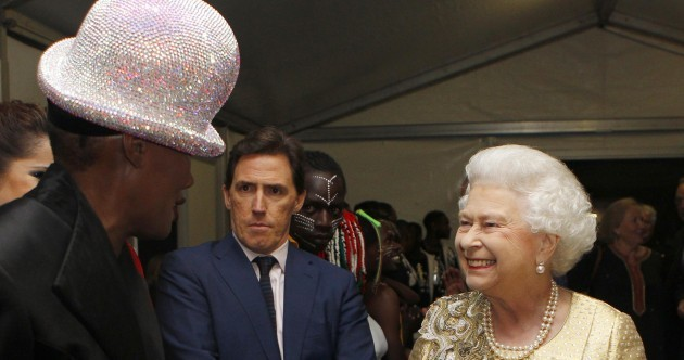 In pictures: The Queen meets oddly-dressed celebrities