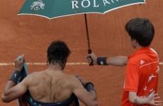 Rain halts French Open final again