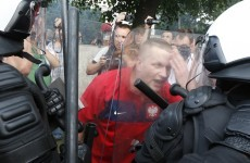 In pictures: Polish and Russian fans engage in violent clashes