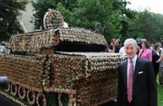 Video: US Army celebrates 237th birthday with cupcake tank