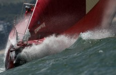 Unhappy Campers: Volvo Ocean Race team encounters massive wave