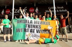 Flying the flag: Angela Merkel banner raises over €20k for charities