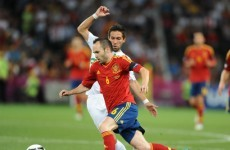 Iniesta named as Player of the Tournament at Euro 2012