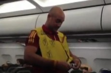 VIDEO: Safety first: Pepe Reina runs through in-flight safety routine