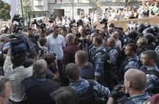 Vitali Klitschko sprayed with tear gas, injures hand