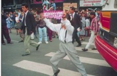 How to stop jaywalking? Hire mimes…