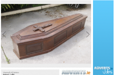 Coffin for sale… and it's only been used once