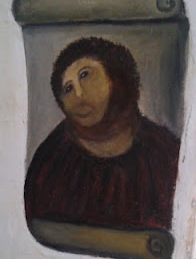 Old lady decides to restore 19th century Spanish fresco…