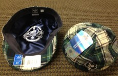 The Notre Dame coaches have got themselves some funky new caps for their trip to Ireland