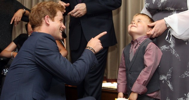 """Kid to Prince Harry: """"I'm glad you've got your clothes on"""""""