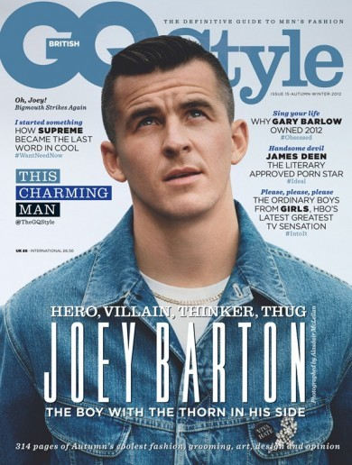 This charming man: Joey Barton is on the cover of GQ Style magazine