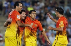 VIDEO: Messi at double as Barca thrash Getafe to stay top