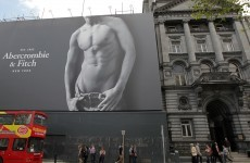 Abercrombie & Fitch banner taken down from Dublin city centre