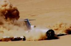 Why was a Boeing 727 deliberately crashed in desert?