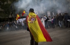 Spanish police protest cuts in Madrid