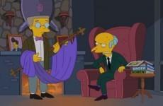 VIDEO: Mr Burns endorses Romney