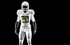 Watching some college ball tonight? Keep an eye out for Oregon's all-white kit
