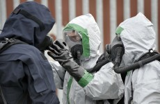 Bomb disposal team make chemical safe in secondary school