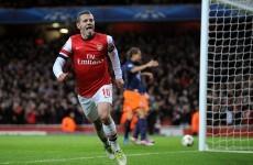 Champions League wrap: Rare Wilshere strike helps Arsenal advance