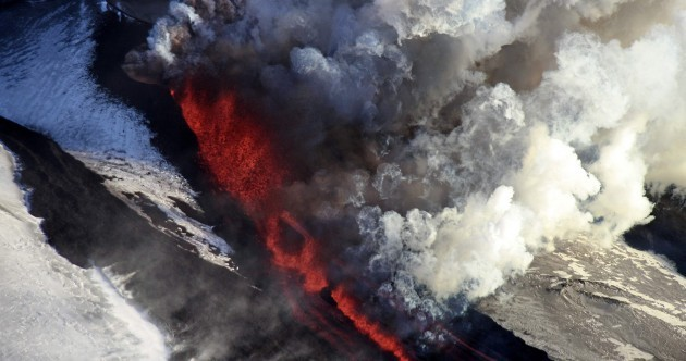 Photos: Thar she blows – Russian volcano erupts for first time in 36 years
