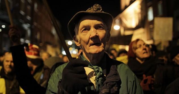 PHOTOS, VIDEO: austerity protest outside Dáil