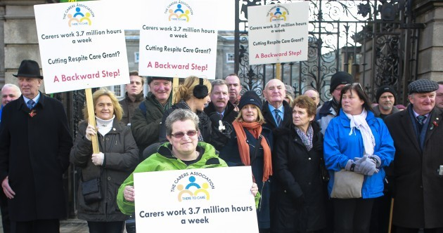 PHOTOS: Carers hold protest against plans to cut respite care grant