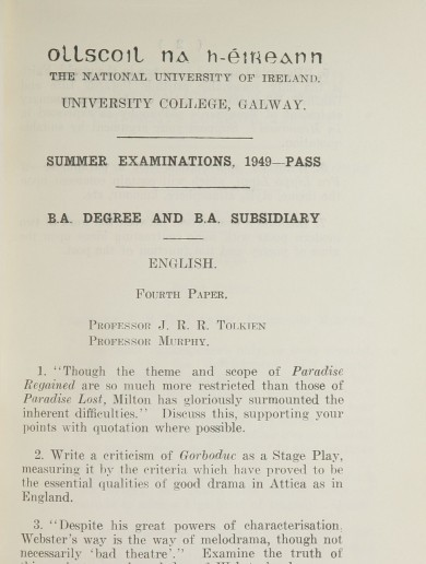 Imagine if J.R.R. Tolkien was marking your exam papers?
