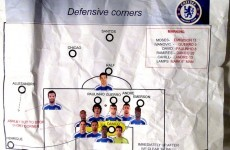 Inside knowledge: Chelsea's tactics found in dressing room bin