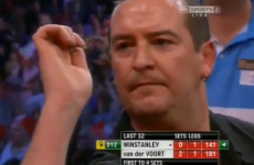 VIDEO: Dean Winstanley hits a 9-darter at the World Championship