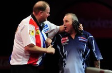 VIDEO: Phil Taylor snubs Barney's congratulations after semi-final win