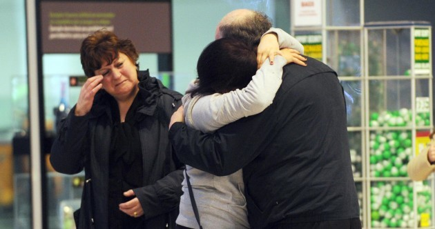 Pics: Emotional post-Christmas goodbyes at Dublin Airport this morning