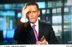 Update: CAUGHT RAPID…Aengus MacGrianna powdering his nose on the news