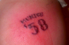 Dear God, look at the idiotic 'Munich '58′ tattoo one Liverpool supporter got this week
