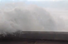 VIDEO: If you're admiring the waves, roll your windows up