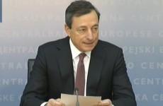 "Draghi says ECB ""took note"" of IBRC liquidation"