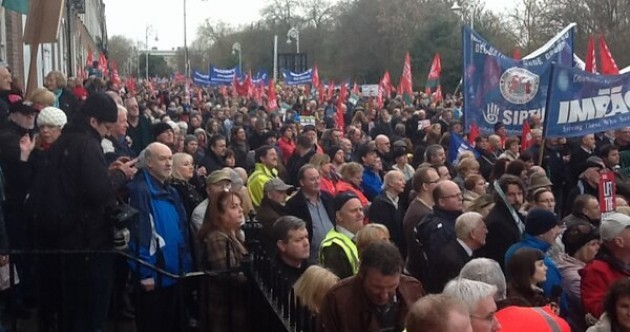 In pictures: today's ICTU protest marches across the country
