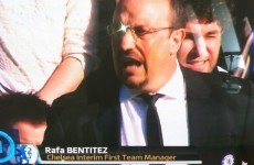 ITV's unfortunate mis-spelling of Rafa Benitez's name during Chelsea's clash with Brentford