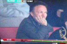 'It's all gone Pete Tong' — ITV pick out unimpressed-looking superstar DJ during Gunners game