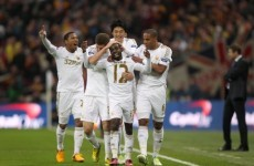 Swansea rout Bradford to claim League Cup win at Wembley