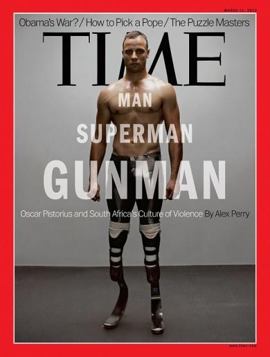 Time Magazine's take on Oscar Pistorius: 'Man, Superman, Gunman'